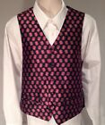 NORTH CAROLINA WOLFPACK MEN'S XXL 100% SILK VEST NCAA FORMAL WEDDING BLK NWT