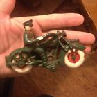VINTAGE CAST IRON CHAMPION  POLICE MOTORCYCLE TOY