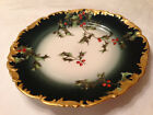 Vogt Antique Christmas Holly Berry Pattern Porcelain Plate