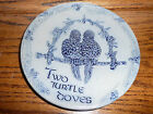 Glazed Rowe Pottery Works TWO TURTLE DOVES 12 Days of Christmas PLATE NO 2