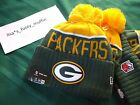 Green Bay Packers New Era knit pom hat beanie NEW Tags OnField AUTHENTIC 2015-16