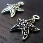 Starfish Charm Wholesale Antiqued Silver Plated Pendants C2867 10 20 Or 50PCs