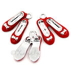 Red Ruby Slippers Wizard Of Oz Wholesale Enamel Charms C3255 3 5 Or 10PCs
