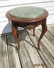 Vintage French Neoclassical Style Bronze Marble Top Hall Round Table Stand