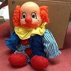 VINTAGE TWO FACED STUFFED CLOWN DOLL