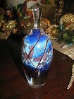 EICKHOLT ART GLASS PERFUME BOTTLE:  Iridescent Purple Blue,6