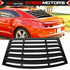 Fits 10 15 Chevy Camaro Black Rear Window Louver Windshield Shade Cover ABS