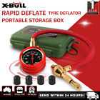 Rapid Tyre Deflator Deflators Tire Air Pressure Gauge Dial Valve Tool Kit Box