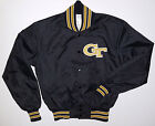 VINTAGE GEORGIA TECH BASEBALL JACKET 1980s THROWBACK OLD-SCHOOL DELONG SIZE S