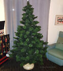 WOODS SPRITE VINTAGE ARTIFICIAL CHRISTMAS TREE BOTTLE BRUSH BRANCHES 7 FT 1960s