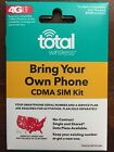TOTAL WIRELESS 3 IN 1 4G LTE SIM CARD TOTAL WIRELESS USES THE VERIZON NETWORK