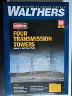 WALTHERS CORNERSTONE  FOUR  TRANSMISSION  TOWERS  933-3121  HO   KIT