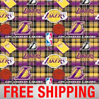 Los Angeles Lakers Fleece Fabric NBA Style LAKERS 5001 60 Wide Free Shipping