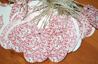 200 OVAL Damask PINK Print LARGE 34 x 28 in DESIGNER Merchandise Price Tags