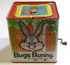Vintage 1962 Mattel Bugs Bunny in the Music Box No.573 Wind Up Tin Toy