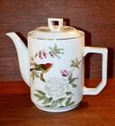 Shafford CHINESE GARDEN 6 Cup Coffee Pot w/Lid MINT Gold Trim