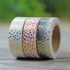 NEW Gold Foil Printing For Christmas Set Japanese Washi Paper Tape 15mmX10m