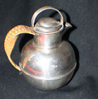 SILVER PLATED TEAPOT BY SHEFFIELD-EPC-SILVER OVER COPPER-WICKER HANDLE-ENGLAND