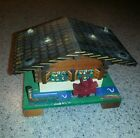 VINTAGE Wood SWISS Chalet House Music Box  Made in SWITZERLAND