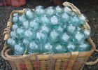 Japanese Glass Fishing FLOATS 2 LOT 15 Round Net Buoy Balls Authentic Vintage