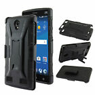 Hybrid Armor Belt Clip Holster Hard Stand Cover Case for ZTE ZMAX 2 2nd Gen Z958