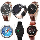 Bluetooth Smart Watch with PU Leather Strap Calling Pedometer Heart Rate Monitor