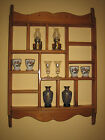 Vintage Solid Wood Country Shelf Display Rack Wall Curio Shelf