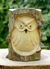 Unique Gift Hand Carved Wooden Owl Statue Figurine Sculpture Wood Home Decor Art