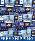 Fleece Fabric US Navy Military Branch Style 1097 60 Wide Free Shipping
