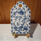 BLUE ONION BLUE DANUBE CUTTING BOARD WALL PLAQUE MADE IN JAPAN