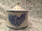 Numbered Made in Italy Pottery Lid Eagle Stars Container w/lid