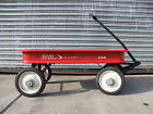Vintage Mid Century Red Wagon Sears Roebuck Co. Ball Bearing Allstate 500 Rare!