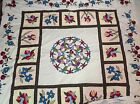 Hand Made Quilt Top 88x88 Stained Glass w/2 Pillow Tops