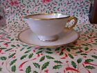 Saucer Set Gold Trim Made In USA