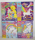 Lisa Frank Puzzle Lot of Four Markie Unicorn Skye Pegasus Rainbow Matinee