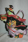 Vtg Fitz and Floyd 1-1/2 Qt Halloween Harvest Witch Pitcher 1995