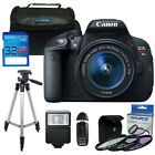 Canon EOS Rebel T5i 700D Camera with 18 55mm IS STM LENS + I3ePro Basic Kit