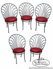 Shaver Howard Arthur Umanoff Set of 5 Scallop Back Steel Dining Chairs