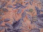 COTTON QUILT CRAFT SEW FABRIC ROSE PURPLE  BROWN LEAVES BY NORTHCOTT BTY