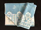 CYNTHIA ROWLEY BLUE WHITE PAISLEY PRINT  HAND TOWELS - SET OF 2 - NEW