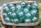 Japanese GLASS Fishing FLOATS 35 LOT 9 Round Net Buoy BALLS Authentic Vintage