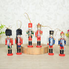 6 Vintage Wooden Nutcracker Nut Cracker Soldier King Figures Christmas Decor
