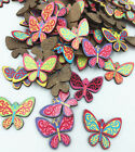 FREE DIY Mix exquisite butterfly Wood Scrapbooking Decorative Crafts 25mm