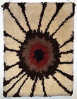 MID CENTURY SHAG RUG HANGING WALL ART ABSTRACT AMOEBA STARBURST 1960s VINTAGE