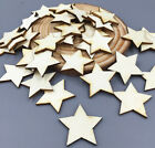 Wooden Star Cutouts Craft Shapes Scrapbooking Embellishments Wood Pieces 25mm 1