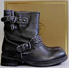 New in Box ASH Rebel Motorcycle Leather Boots Bootie Shoes Black EUR37 335