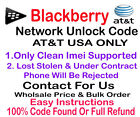 BlackBerry Unlock Code ATT USA Blackberry Bold 9000 Clean imei only