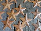 Lot of 25 Rusty Tin Barn Stars 375 inch 3 3 4 Rusted Primitive Country 35 in