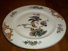 Epiag Czechoslovakia European Porcelain Cream Gold Brown Dinner Plate with Birds