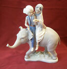 LLADRO PORCELAIN FIGURINE HINDU CHILDREN RIDING ELEPHANT Sculptor José Puche